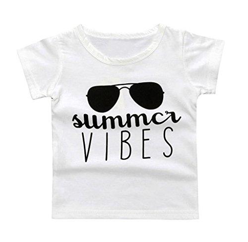 Singleluci Toddler/Infant Kids Summer T-Shirt (3T, White - Name Top Brand