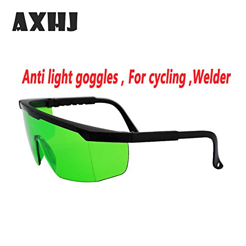 Laser Eye Protection Safety Glasses Eyewear Goggles Anti-Fog (green)