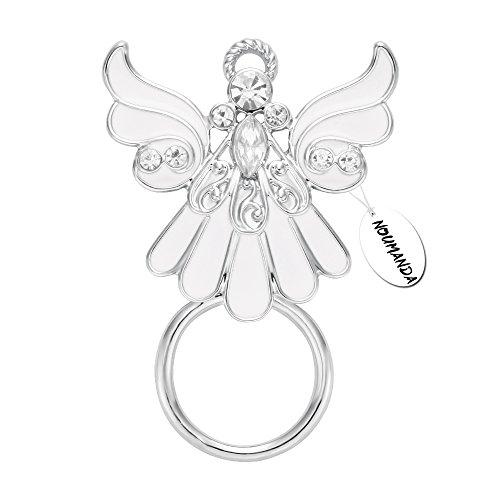 NOUMANDA Rhinestone Crystal Angel Wings Eyeglass