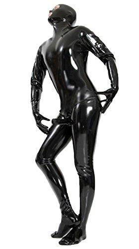 justinlatex men 39 s black shiny latex catsuit with anatomical penis sheath l buy online in uae. Black Bedroom Furniture Sets. Home Design Ideas
