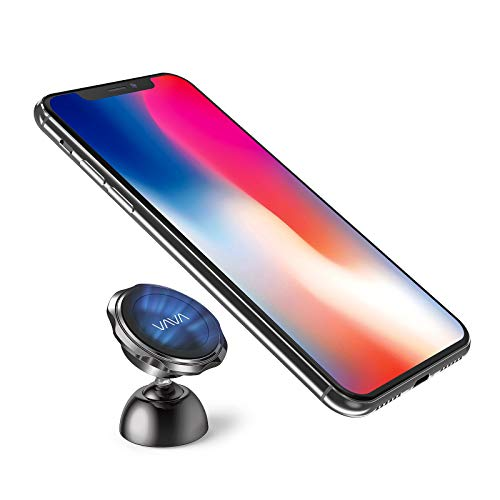 VAVA Phone Holder for Car Dashboard, Magnetic Car Phone Mount with a Super Strong Magnet Compatible with iPhone Xs Max XR X 8 7 Plus Galaxy S9 S8 Plus Note 9 8 and More