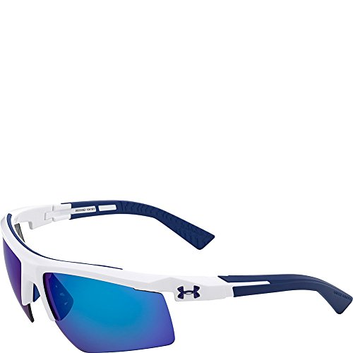 Under Armour Eyewear Core 2.0 Sunglasses (Shiny White-Navy Temples/Gray - Under Armour Sunglasses Ua Core