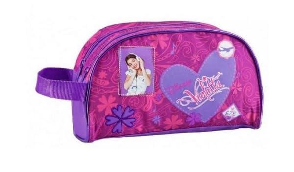 Neceser Violetta Disney corazon dos cremalleras: Amazon.es: Electrónica
