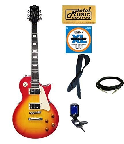 Oscar Schmidt OE20CS LP Style Electric Guitar Bundle - Cherry Sunburst ()