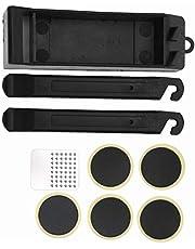 Wosune Conjunto de ferramentas de reparo de perfuração, plástico + kit de ferramentas de reparo de pneu de aço, 10,8 x 3,3 cm para ambientes externos