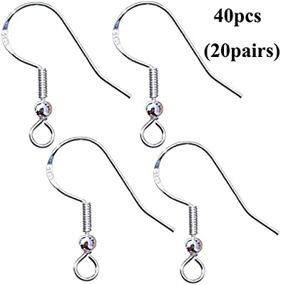925 Stamped Silver Earring Fish Hooks Ear Wires Findings