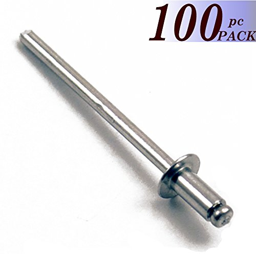 Boltman 3/16'' Dia. Dome Head 1/16''-1/8'' Grip Range All Aluminum Panel Blind Rivets (100pkg)