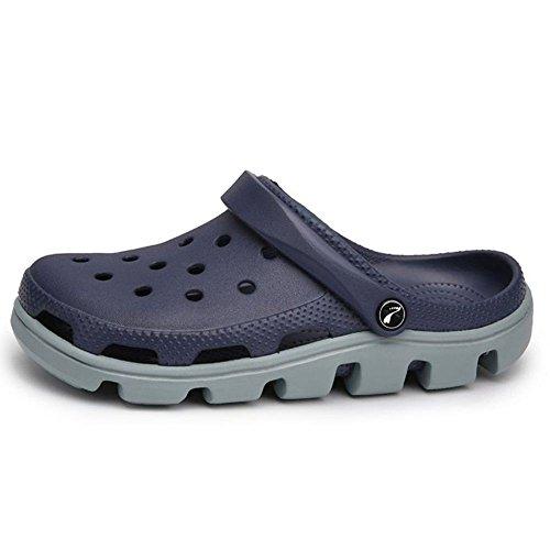 Coolcept Unisex Adults Clogs Slip On Summer Sandals Dark Blue R8SOZTmm