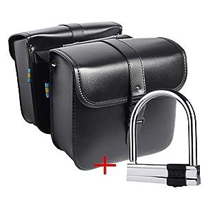 41tmylb4fVL. SS300 1 paio di borse laterali laterali in pelle PU impermeabile posteriore sedile da sella borsa da viaggio strumento coda…