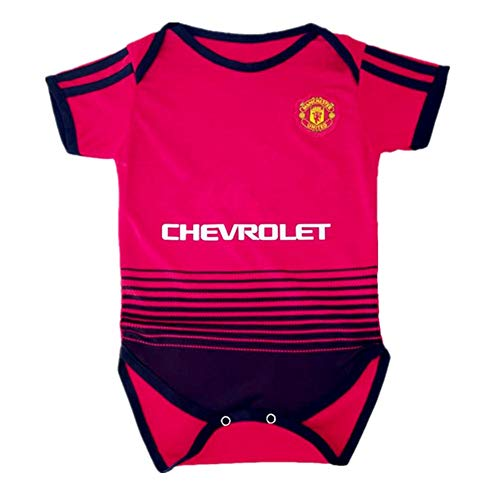 Manchester United Infant Cotton Soccer Bodysuits for 0-9 Months Infant OneSize Red