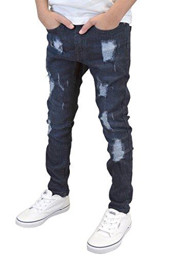 526jeanswear Fille 526jeanswear Darkwash Pantalon Pantalon Rip HB01W8T