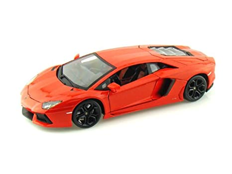 Amazon Com Lamborghini Aventador Lp700 4 1 18 Orange Toys Games