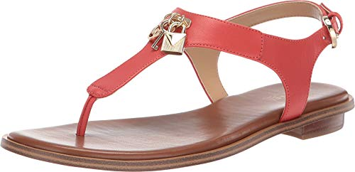 T-strap Sandals Michael Kors - Michael Michael Kors Leather Suki T-Strap Charm Thong Sandals, 6M Light Terracotta
