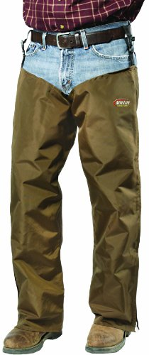 Nite Lite Outdoor Gear Men's Zippered Chaps (Brown, Medium Plus 32-Inch  Inseam)