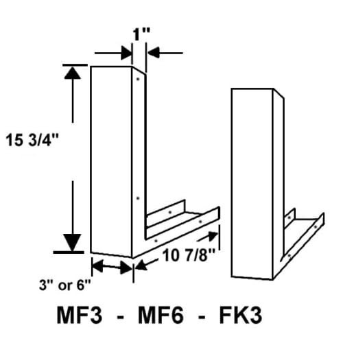 Universal Stainless Steel Over the Range L Shaped Microwave Fill Filler Kit - Fills a 36'' Wide by 17-1/4'' Tall Spot FK3-SS