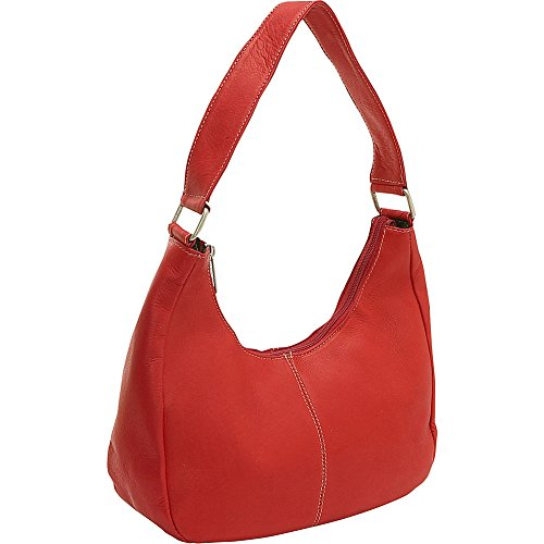Red Le Handle Donne Side Leather Hobo Single Zip r0fqrxFw