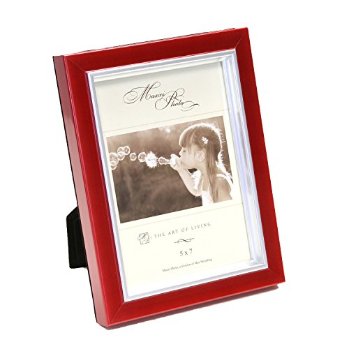 Maxxi Designs Photo Frame with Easel Back, 5 x 7, Red Macaron