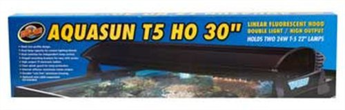 Zoo Med AquaSun T5-HO Double Light Linear Fluorescent Hood, 30-Inch by Zoo Med