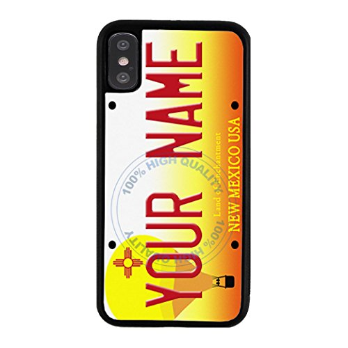 BleuReign Personalized New Mexico License State Plate Rubber Phone Case for Apple iPhone X Xs Ten