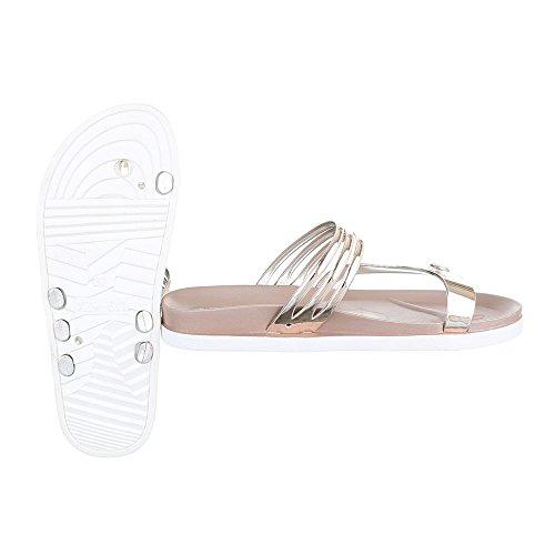 Ital-Design - Zapatos con tacón Mujer Gold Rosa