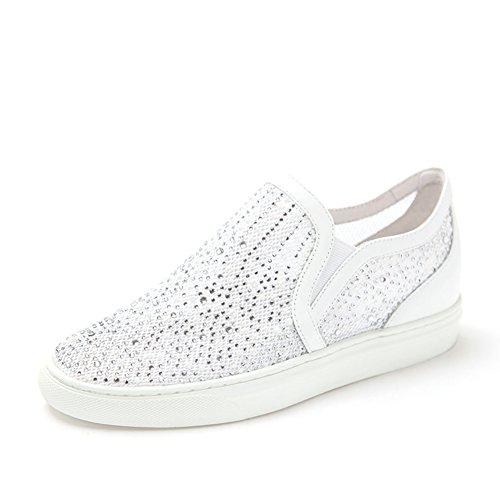 con malla de diamante a los zapatos planos de pedal/La Sra zapatos casuales en el talón A