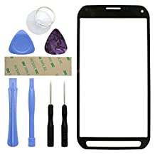 Fenzer Black Replacement Glass Lens Screen for Samsung Galaxy S5 Active with 8 Piece Tool Kit