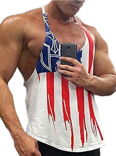 メンズ筋肉ストリンガータンクトップジム軽量ボディービルベストノースリーブTシャツ