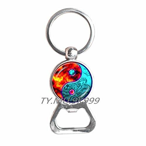 Bottle opener Keychain yin yang Bottle opener Keychain yin yang charm Bottle opener Keychain yin yang jewelry.Y137