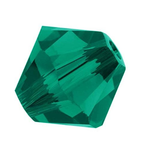20pcs Authentic 6mm Swarovski Crystals 5328 Xillion Bicone Crystal Beads for Jewelry Craft Making (Emerald) SWA-b624 (Green Swarovski Glass)