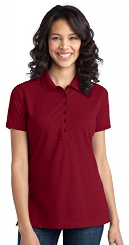 Port Authority Women's Port Authority Ladies Stretch Pique Polo. L Chili Red
