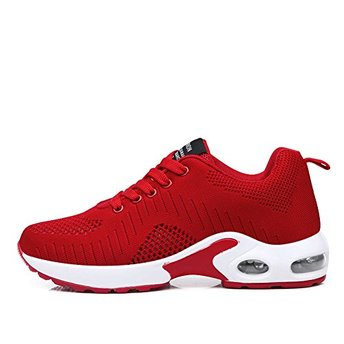 - FLARUT Running Shoes Womens Lightweight Fashion Soprt Sneakers Casual Walking Athletic Non Slip(Red, EU40)