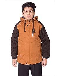 Boys Kids Contrast Sleeve Fleece Parka