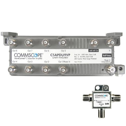 Commscope CSAPDU9VPI Passive VoIP Amplifier with Power Inserter by Commscope