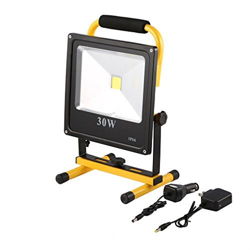Work Lights Spotlights 30W LED Outdoor Camping Lights ICOCO Super Bright Rechargeable Flood Lights, Durable Waterproof Emergency Light