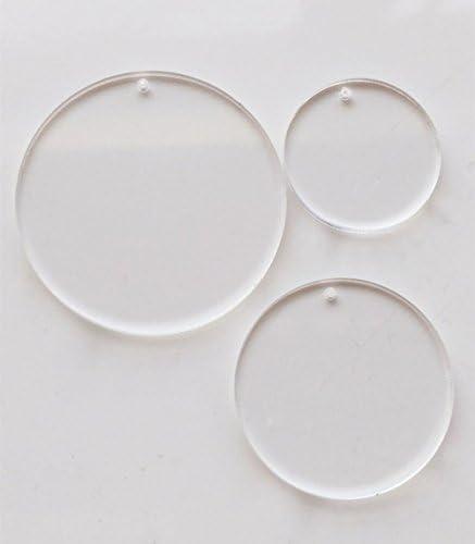 Amazon.com: Juego de 25 llaveros de acrílico transparente ...