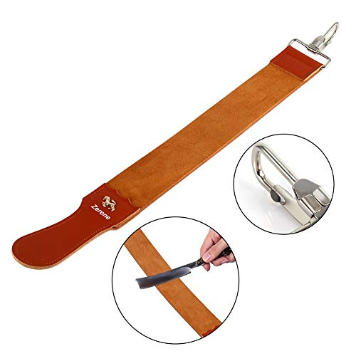 - Straight Razor Strops,Genuine Leather Strop Strap Barber Straight Razor Folding Knife Shave Sharpener Sharpening Belt for Barber Hair Removal Straight Razor