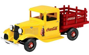 (Lindberg Coca-Cola 1934 Ford Delivery Truck Pickup, Coke 1:25 Scale Unassembled Model)