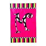 Twirly Curly Monogram Garden Flag Size: 43″ H x 28″ W, Letter: M Review