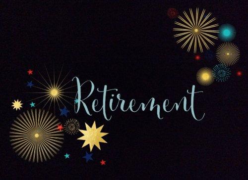 "Retirement: Black Fireworks: Message Book | Keepsake | Memorabilia for Friends & Family to write in, 50 blank pages, 8.25""x 6"" (Keepsake Retirement)"