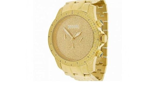 01bed9c5c34 Amazon.com  JoJino Mens Yellow Gold Diamond Watch 0.25ctw IJ1122  Watches