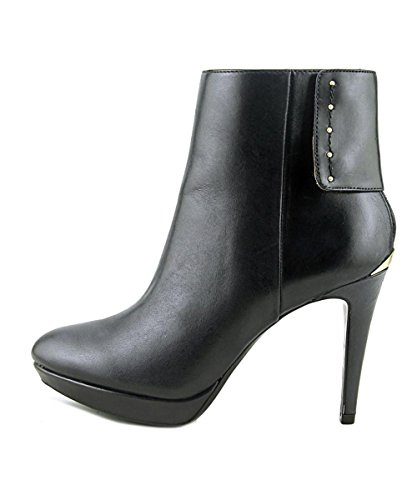 Calvin Klein Womens Palisa Almond Toe Ankle Fashion Boots, Black, Size 9.0 by Calvin Klein