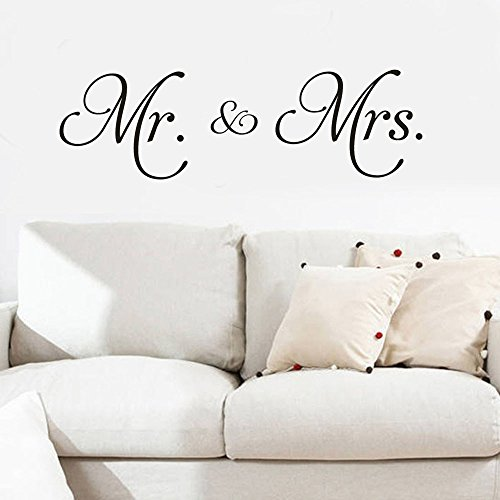 Euone ♛ Wall Stickers, Mr Mrs Removable Art Vinyl Mural Home Room Decor Wall Stickers -