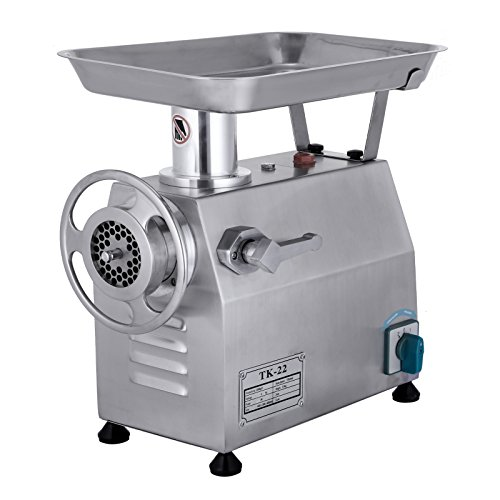 LOVSHARE Electric Meat Grinder 850W 218 PRM Mincer 550 LB Sausage Maker Commercial Stainless Steel Food Grinding Mincing Machine Home Kitchen Tool 1 Cutting Plate and 1 Cutting Knife (TK-22)