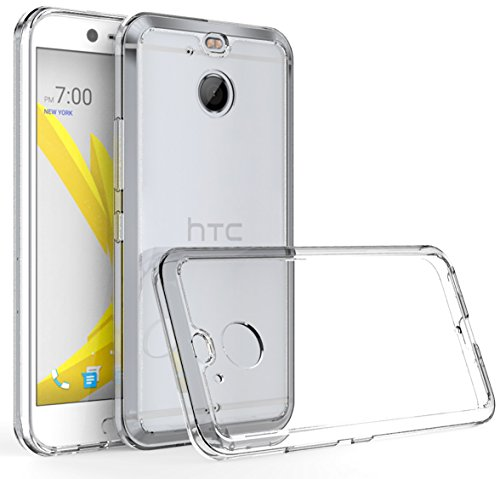 Tektide Case for HTC Bolt, [Invisible Armor] Ultra Low-Profile, Razor-Thin, Resilient, Featherlight Clear TPU Rubber Soft Shell Case/Back Cover