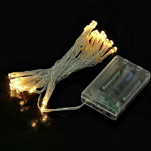 S2S 2AA Battery Powered, LED String Fairy Lights with 20 LEDs Warm White 3 Meter