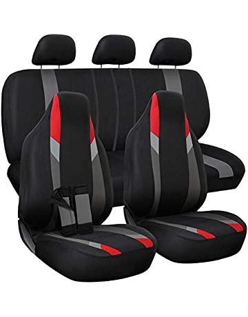 Motorup America Auto Seat Cover Full Set - Fits Select Vehicles Car Truck  Van SUV - 7ed663f37a58