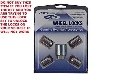 Genuine Hyundai Accessories U8440-00400 Chrome Wheel Lock for Hyundai Veloster and Accent ()