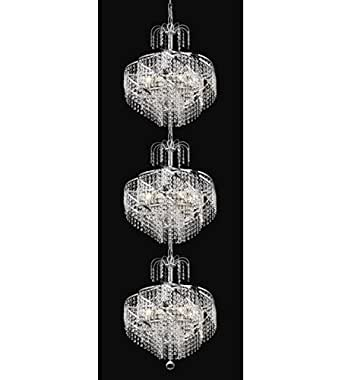 Pendants 24 Light With Chrome Finish Spectra Swarovski E12 Bulb 18 inch 1440 Watts - World of Classic