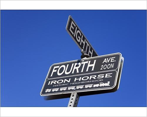 Photographic Print of Street signs, 4th Avenue Shopping District, Tucson, Pima County, - Tucson Arizona In Shopping