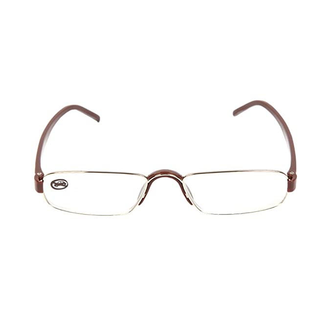 baecb13e8a4 Lexicon Rectangle Reading Glass +1.00 Power in Silver and Brown (Adorn-C2)   Amazon.in  Clothing   Accessories